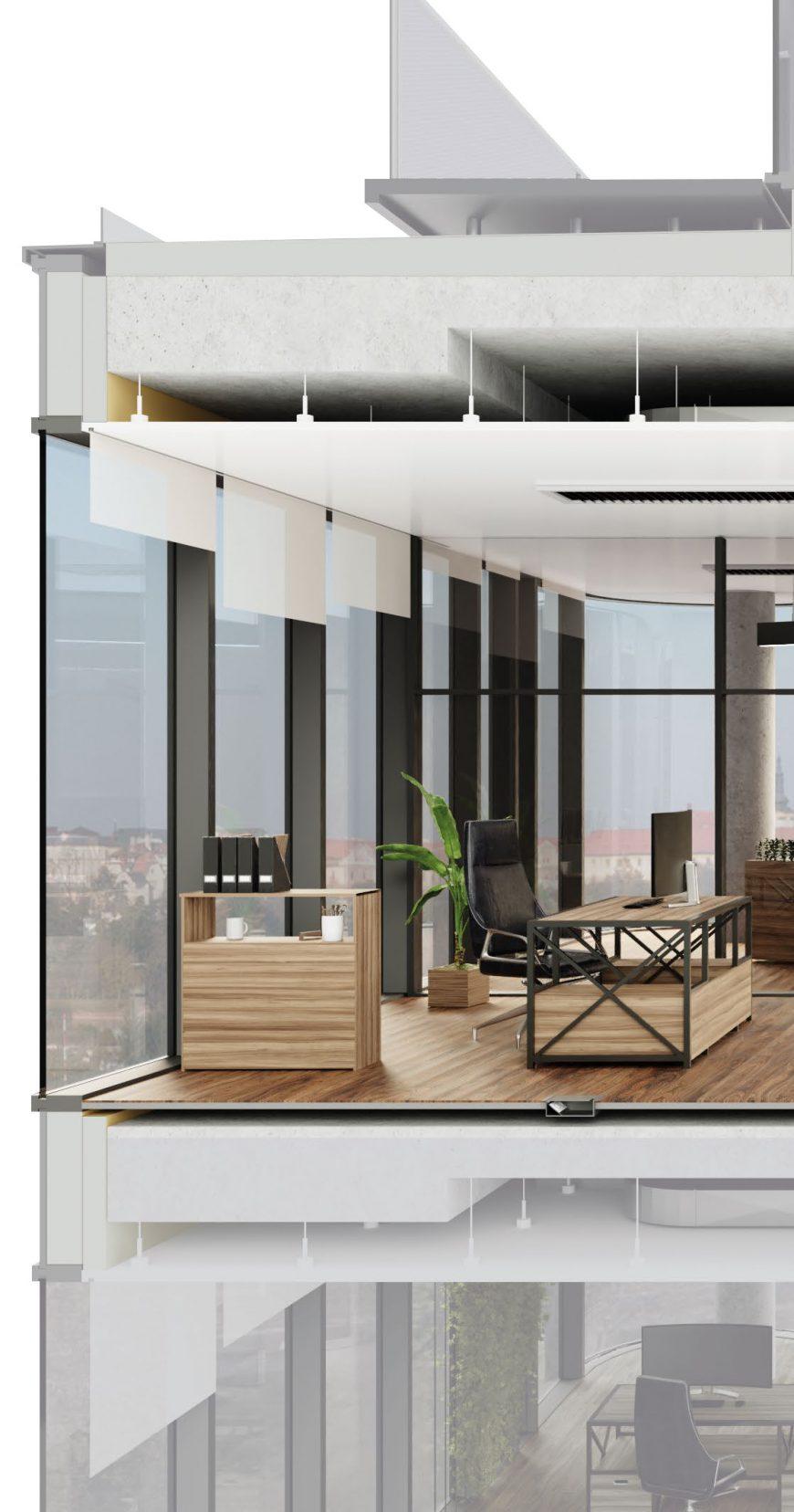 Budova disponuje špičkovými technologiemi pro dokonalé zázemí firem 21. století.