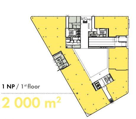 1. NP / 1st floor - 2 000 m2