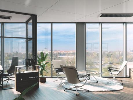Vizualizace interiéru administrativní budovy Envelopa Office Center